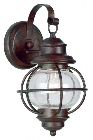 Hatteras Gilded Copper Small Wall Lantern