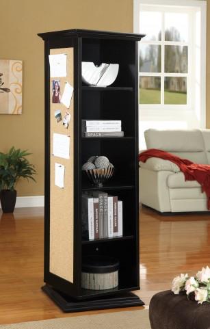 910083 Black Swivel Cabinet
