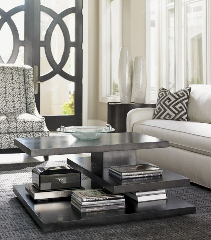 Carrera Rhodium Metal And Glass Occasional Table Set