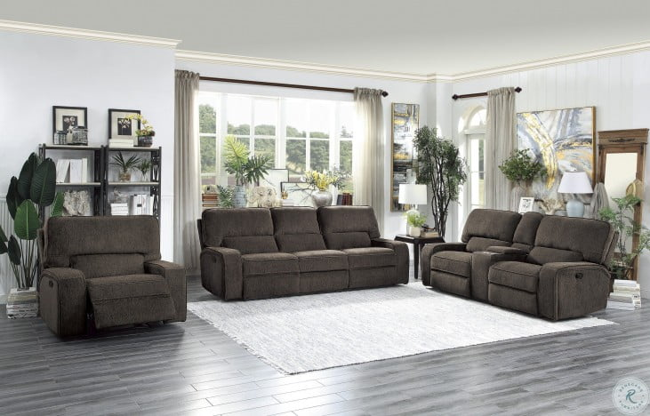 Terrific Borneo Chocolate Power Reclining Loveseat With Center Console Bralicious Painted Fabric Chair Ideas Braliciousco
