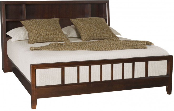 Tribecca Root Beer King Bookcase Bed