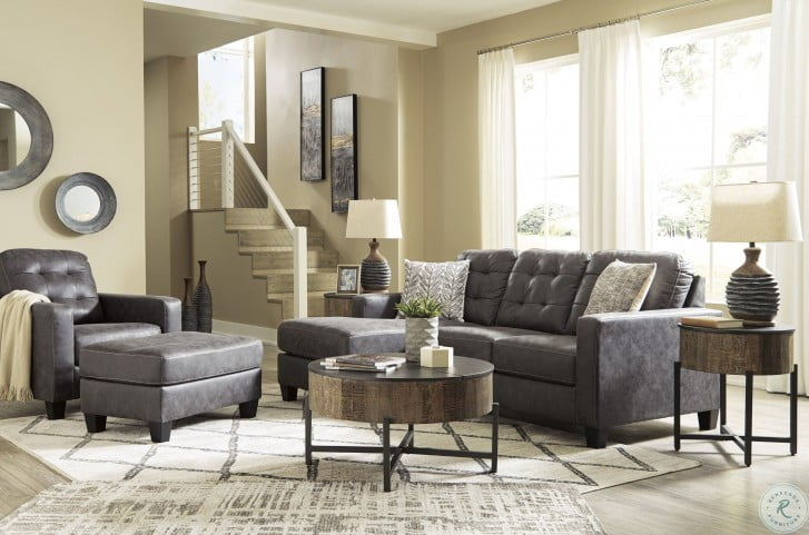 Venaldi Gunmetal Living Room Set