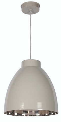 Silo Taupe and Nickel 1 Light Pendant