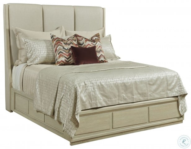 Lenox Siena Alabaster Queen Upholstered Panel Bed
