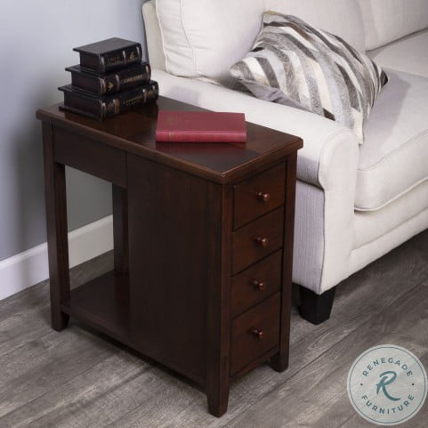 Kelton Plantation Cherry 4 Drawer Chairside Chest