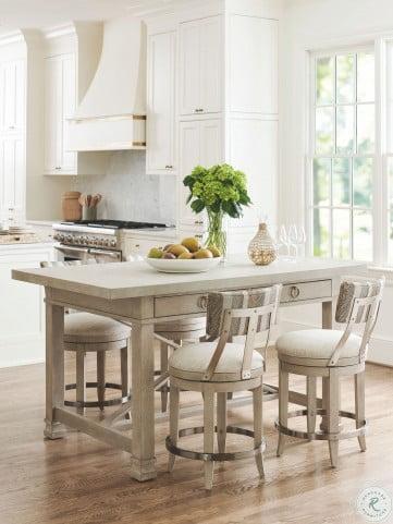 Malibu Grey Seaboard Bistro Table Set by Barclay Butera
