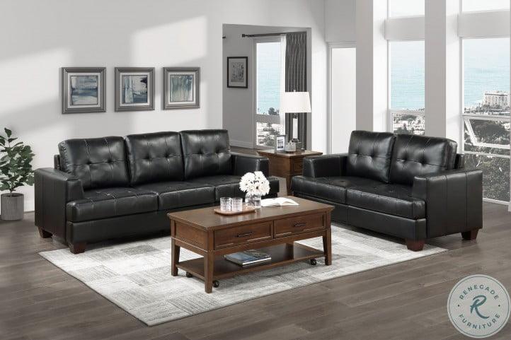Hinsall Black Sofa