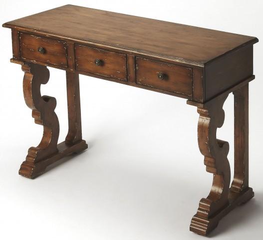 Caravaggio Distressed Brown Console Table