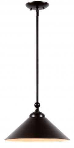 Conical Oil Rubbed Bronze 1 Light Pendant