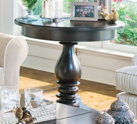 Paula Deen Home Tobacco Round Side Table