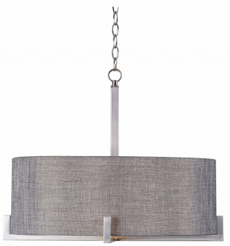Wiley Brushed Steel 4 Light Pendant