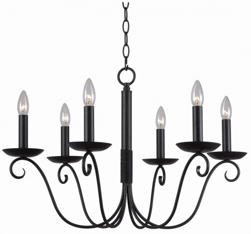Marion Forged Graphite 6 Light Chandelier