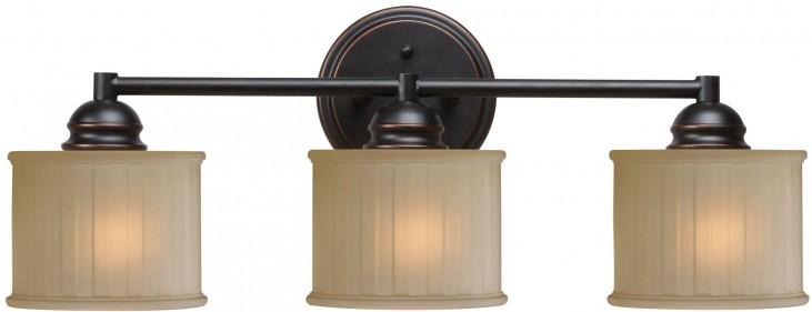 Barney Oil Rubbed Bronze 3 Light Vanity