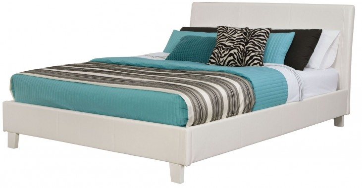New York White Queen Upholstered Bed
