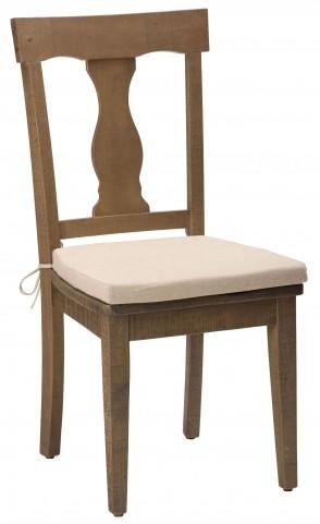 Slater Mill Reclaimed Pine Splat Back Dining Chair Set of 2