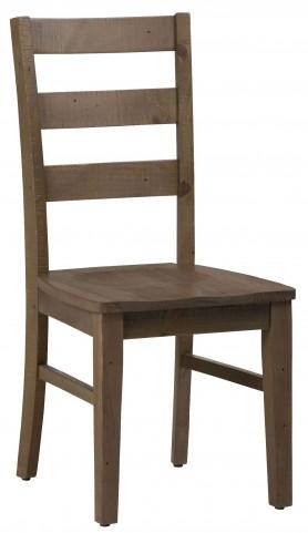 Slater Mill Pine Three Rung Ladderback Chair Set of 2