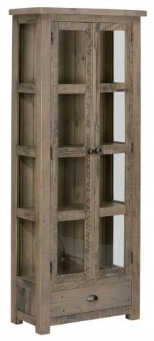 Slater Mill Pine Tall Display Cupboard