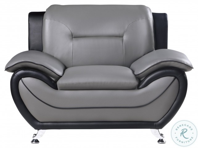 Matteo Gray And Black Chair