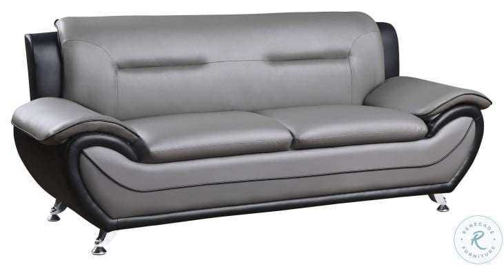 Matteo Gray And Black Sofa