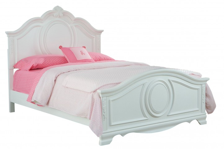 Jessica Clean White Twin Panel Bed