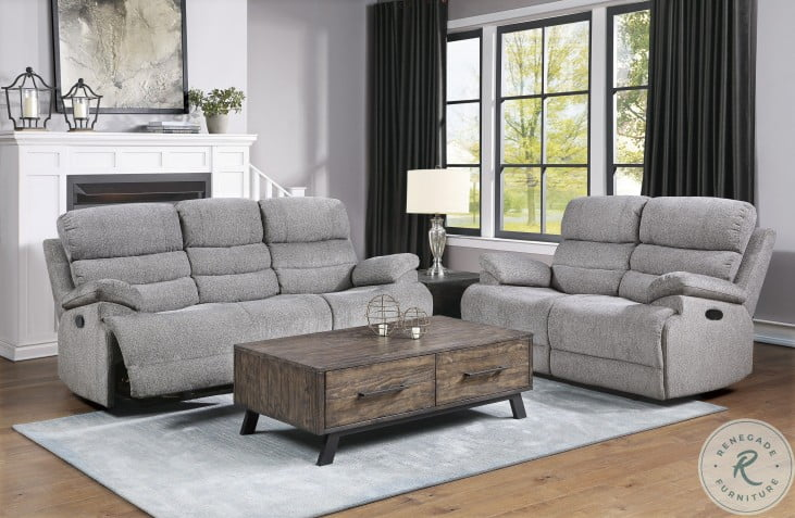 Sherbrook Gray Double Reclining Loveseat