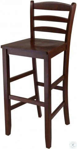 Kingsgate Antique Walnut Counter Height Dining Room Set