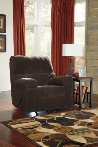 Zorah Chocolate Rocker Recliner