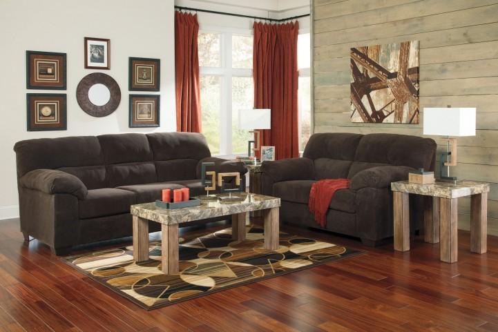 Zorah Chocolate Living Room Set