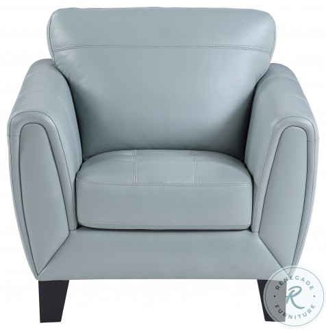 Spivey Aqua Leather Chair