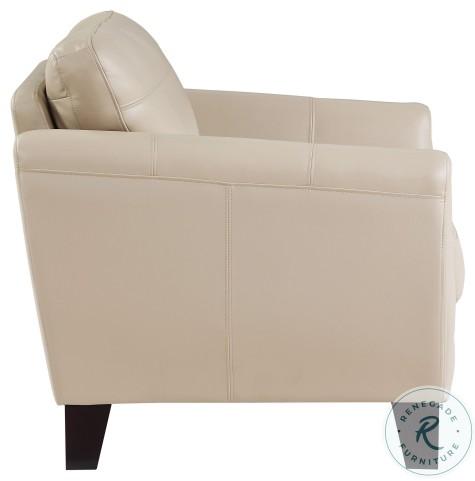 Spivey Beige Leather Living Room Set