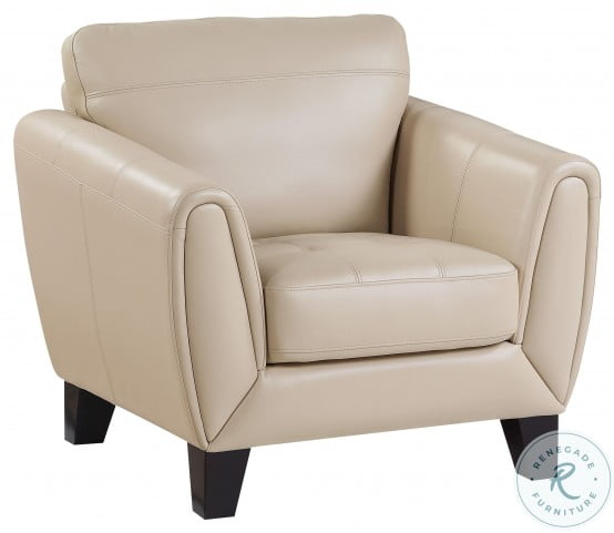 Spivey Beige Leather Chair
