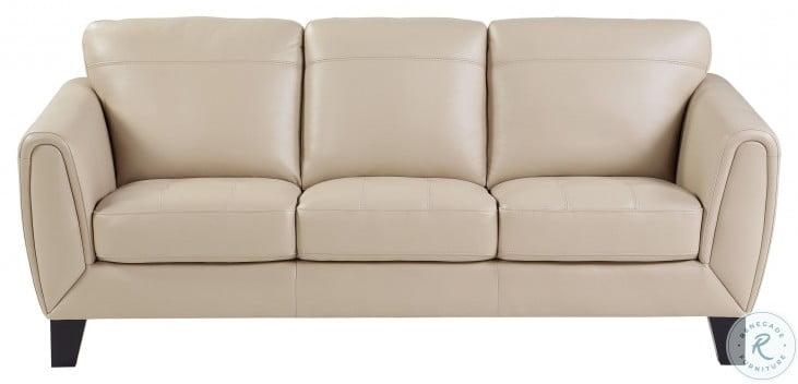 Spivey Beige Leather Sofa