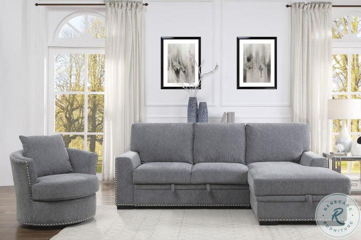 Morelia Dark Gray Swivel Chair