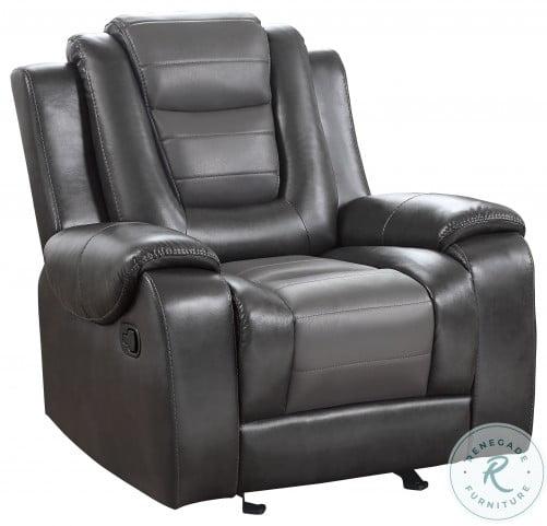 Briscoe Light And Dark Gray Glider Reclining Chair