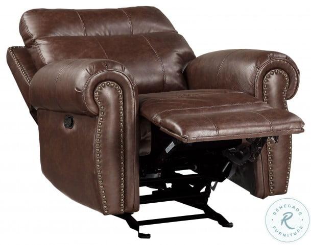 Granville Brown Glider Reclining Chair