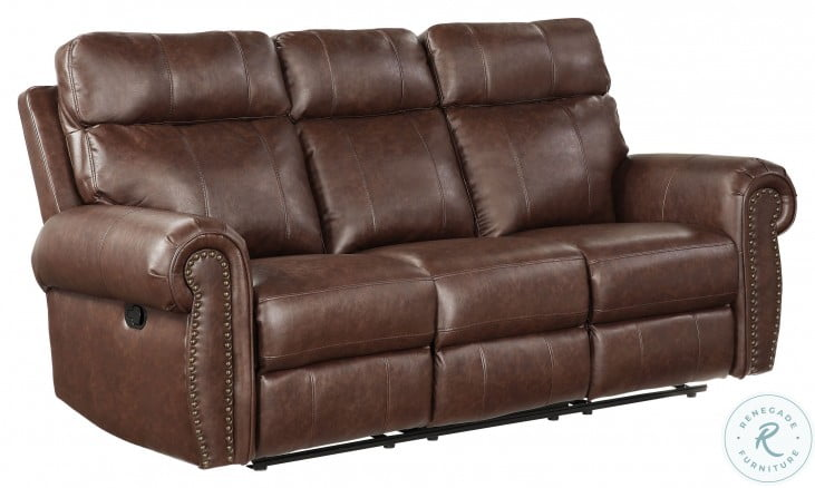 Granville Brown Double Reclining Sofa