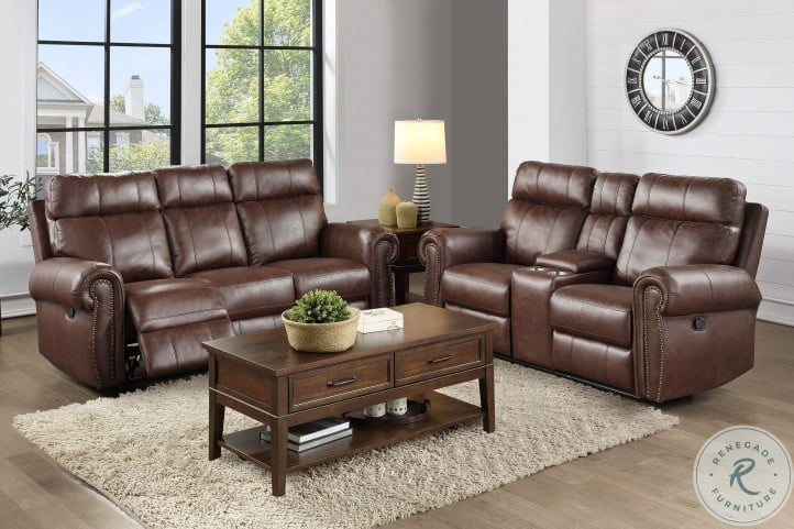 Granville Brown Double Reclining Living Room Set