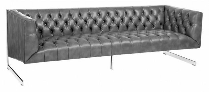 Viper Gray Leather Sofa