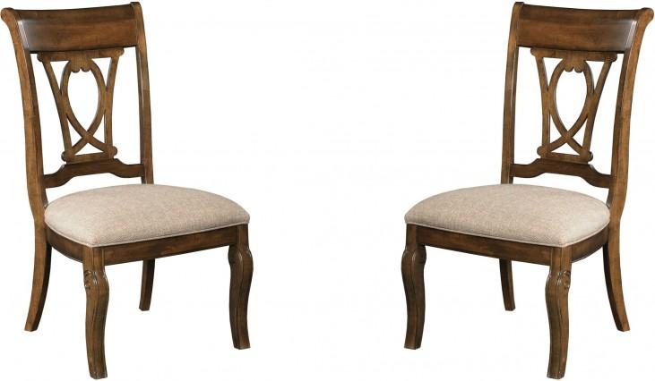 Portolone Truffle Slat Back Side Chair Set of 2
