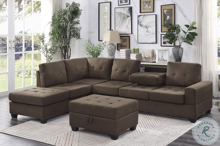 Maston Chocolate 2 Piece Reversible Sectional