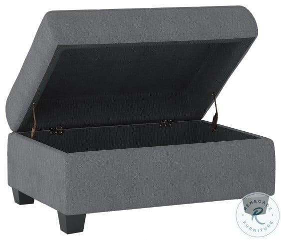 Maston Dark Gray Storage Ottoman