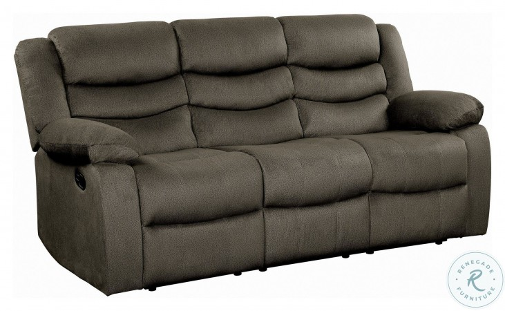 Discus Brown Double Reclining Sofa