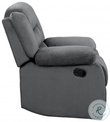 Discus Gray Double Reclining Living Room Set