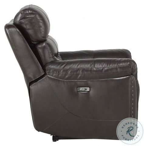 Lance Brown Leather Power Double Reclining Living Room Set With Power Headrests