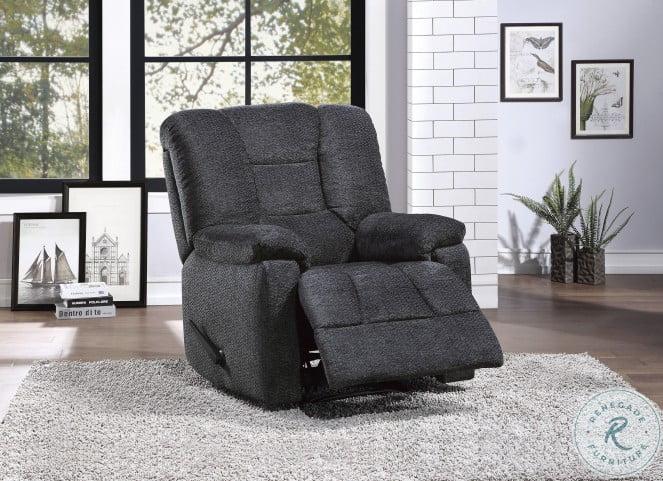 Kaylene Dark Gray Reclining Chair