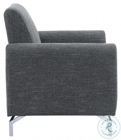 Venture Dark Gray Living Room Set