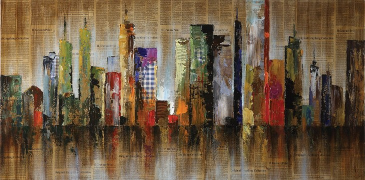 960043 Seaside Metropolitan Oil Painting