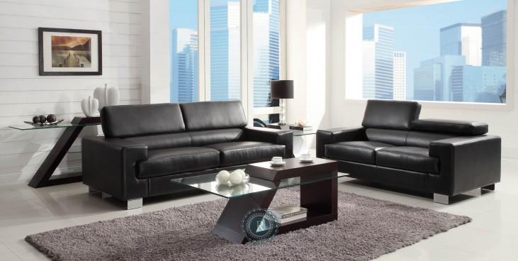 Vernon Black Living Room Set