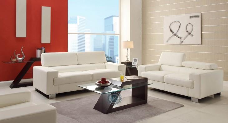 Vernon White Living Room Set