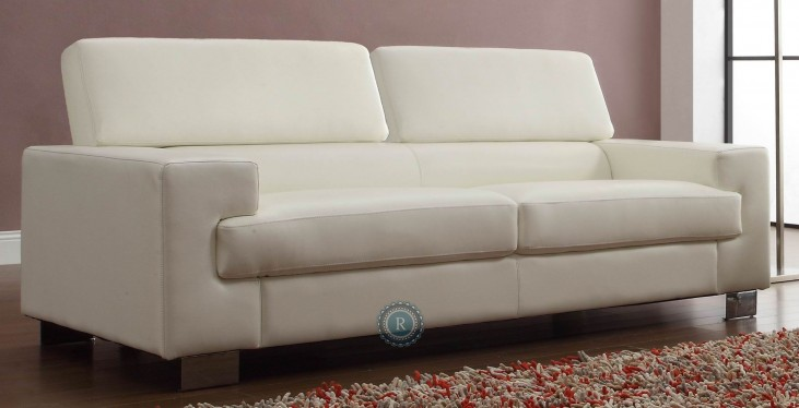 Vernon White Sofa
